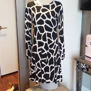 Like new, animal print dress